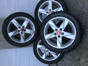 4 mags rims jantes 17po 5x114.3 comme neuf