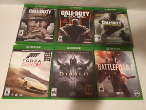 Bundle of xbox one games