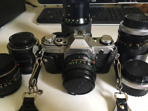 Canon AE- 1 35mm with 5 lenses