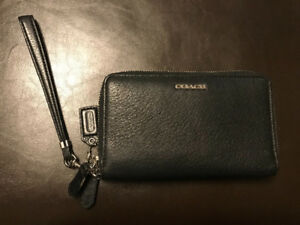 Coach black wallet/wristlet