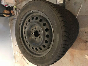 Used winter tires 225/55R17 West Island Greater Montréal image 2