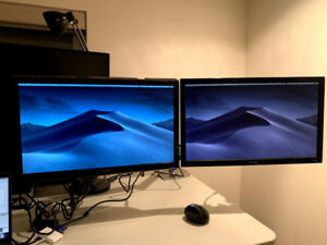 Ergotron LX Dual Monitor with two 23inch ASUS Monitors
