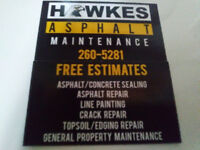 Asphalt sealing/repair and line painting