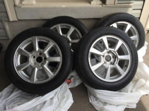 Set of 4 CADILLAC CTS (2008 to 2014 Rims and Tires 17""