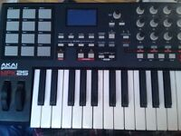 Akai MPK25 for $250 usb cable not included