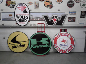CLASSIC MOTORCYCLE AND GASOLINE SIGNS