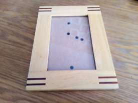 """Modern Wooden picture frame holds 4"""" X 6"""" photo"""