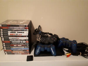 PS2 with 3 controllers and games