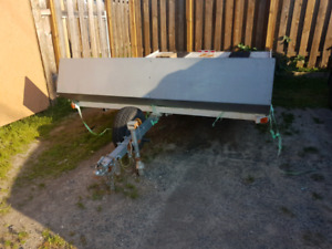 Double wide skidoo trailer 8'x11'