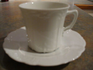 German Porcelain Cups with saucers