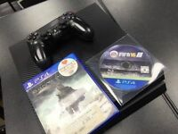 Sony PlayStation 4 500GB Carbon Fibre 2 Games