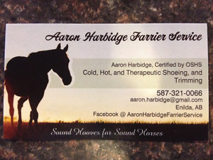 Aaron Harbidge Farrier Service