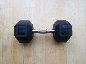 MAXSTRENGTH Hex Dumbbell Rubber Weight
