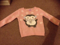 Girls Christmas jumper 12-18 months
