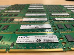 MÉMOIRE RAM DDR2 2GB PC TOUR TOWER 667 800 5300 6400