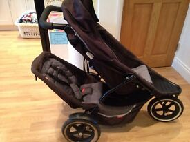 Phil and Teds Dash double pushchair/buggy