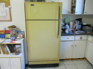 """Creed""""Grudge Match"" Cold Spot Classic Yellow Fridge Circa 1970"