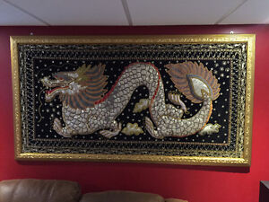 DRAGON mural - Hand-Stitched sequins & embroidered artwork Kingston Kingston Area image 1