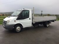 Ford transit 115 t350 lwb 13ft 10 aluminium dropside, 2008(58) reg, tested, in white