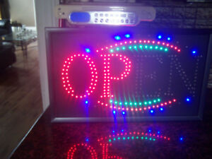 "Large (22'X13') LED Display Sign Flashing ""OPEN"""
