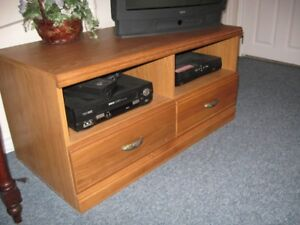 Solid Oak Entertainment Centre  $125.00