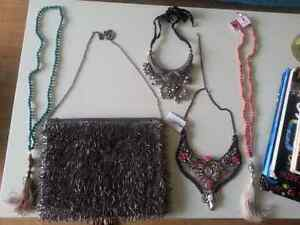Hand made party bag and ethnic jewelleries