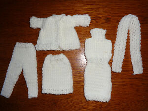 For Sale: Knitted Barbie Doll Clothes (5 pcs)