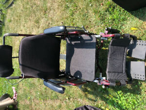 Tilt wheelchair with roho seat