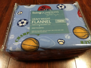 Heavy Weight flannel twin cotton sheet set