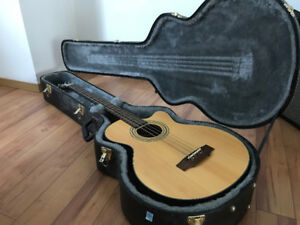 Acoustic Bass Guitar with Hard Case for Sale