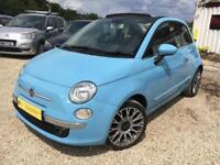 FIAT 500 C LOUNGE convertible Blue Manual 1.2 Petrol, 2013