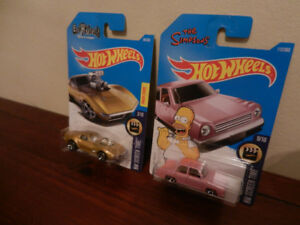 Hot Wheels '68 Corvette Gas Monkey Garage, Simpsons 1:64 Lot