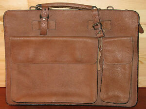 Vintage Leather Barrister's Briefcase ** Reduced by $39 **