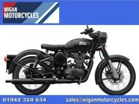 ROYAL ENFIELD CLSSIC STEALTH COMES WITH MANUFACTURERS WARRANTY