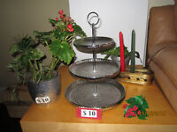 Leather couch,Wooden 3-chairs,lamp$75,Plants$15.more