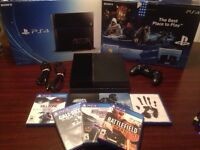 Mint Condition Playstation 4 PS4 w/ 7 Games, Controller