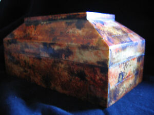 DECORATIVE BONE & WOOD BOX