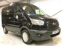 FORD TRANSIT TREND T350 2.2TDCi 125PS 350 L2H2 BLACK MEDIUM WHEELBASE MWB SEMI