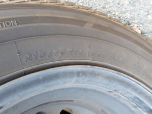 Yokohama winter tires for sale 215/R70/16 - $400