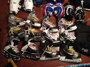 MENS Hockey Skates YOUTH JUNIOR 1 2 3 4 5 6 7 8 9 10 11 12 13 Sk