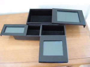 Coffre à bijoux avec 3 tiroirs.  Cadres pour mettre des photos Saint-Hyacinthe Québec image 2