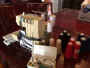 Singer serger + serving thread