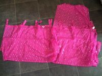 Pink sparkly voiles