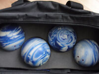 BOWLING BALLS, SHOES AND BAGS