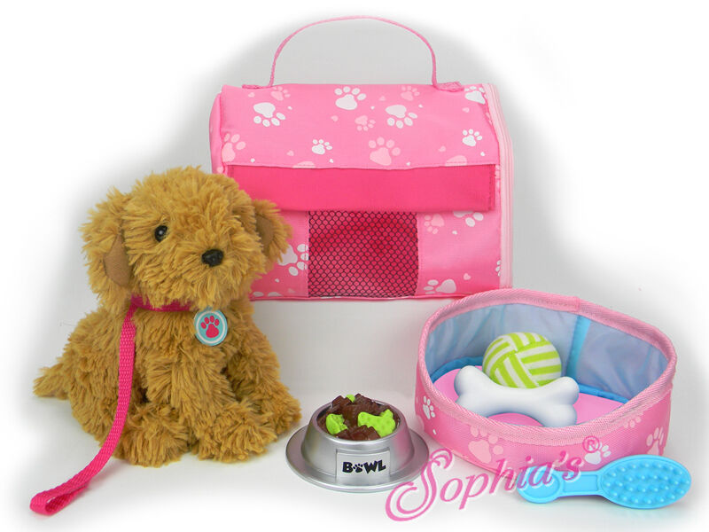 """Doll Clothes 18"""" Puppy Plush Carrier Accessories Sized For American Girl Dolls"""