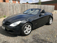 2006 MERCEDES-BENZ SLK200 KOMPRESSOR AUTO CONVERTIBLE BLACK