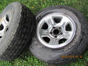 Two Dodge Rims with 265 R 17 Tires, $25 each Prince George British Columbia image 1