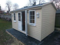 Garden Shed, Studio, Office, Summer House, Workshop, 2.4 x 4.2m Fully Insulated