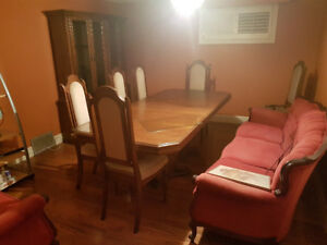 Dining room set with hutch and buffet