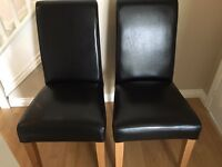 Leather Dining Chairs, Black